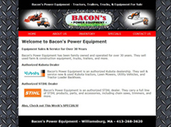 bacons power equipment web site
